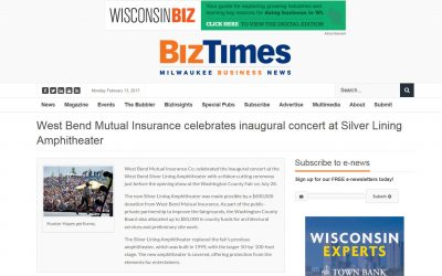 West Bend Mutual Insurance Celebrates Inagural Concert at Silver Lining Amphitheater