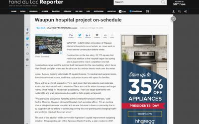 Waupun Hospital Project On Schedule