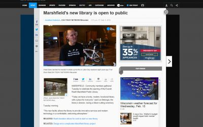 Marshfield's New Library is Open to Public